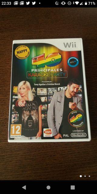 Juego Wii.Karaoke Party Los 40principales +2micros