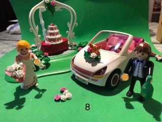 Playmobil escena de boda novios coche 8