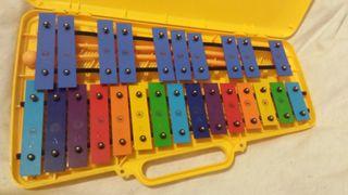 Xilofono escolar. Instrumento musical.