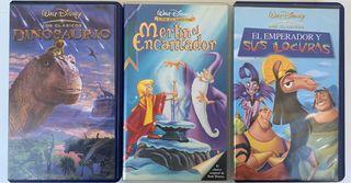 3 películas VHS Walt Disney