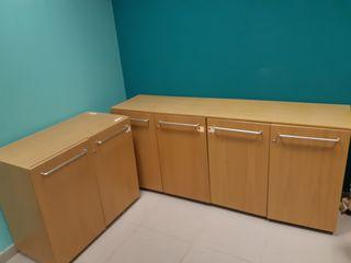 Muebles oficina. 2 modulos archivo. 1 estantes