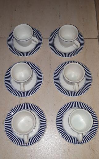 6 tazas y platos