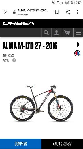 Orbea Alma M-LTD 27 2016 OMR 1X11 Fox 32