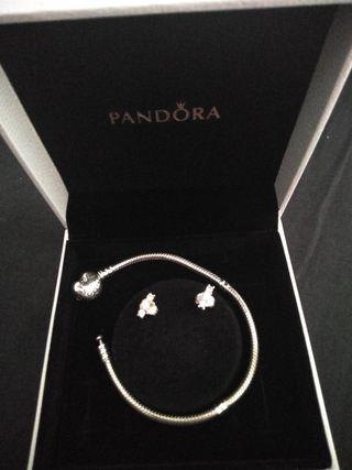 Pulsera y Pendientes plata Pandora