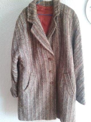 abrigo vintage 100% lana talla xxxl