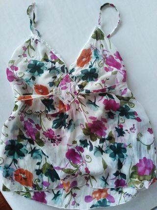 Camiseta de tirantes flores S M