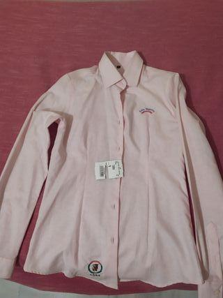 camisa Oxford rosa mujer talla s