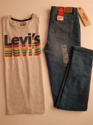 camiseta y pantalón vaquero Levi's niño 12 años
