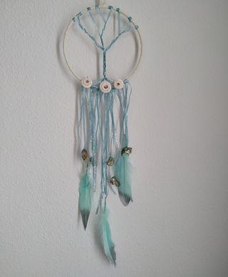 Atrapasueños árbol de la vida Azul