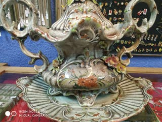 gran sopera porcelana capodimonte vintage