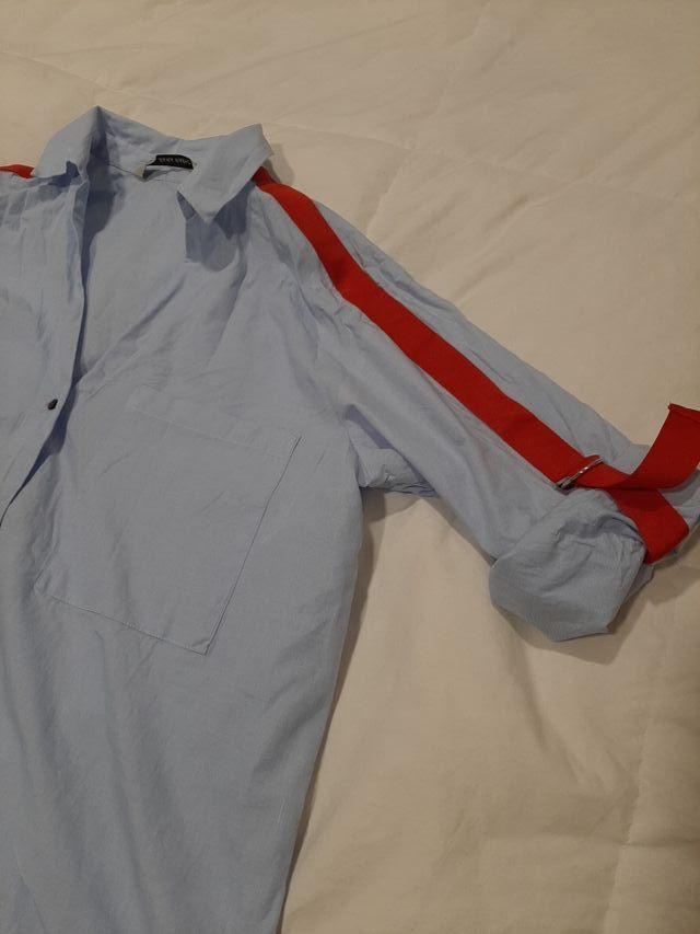 Camisa Zara detalle lazo rojo