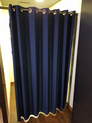 2 cortinas confeccionadas