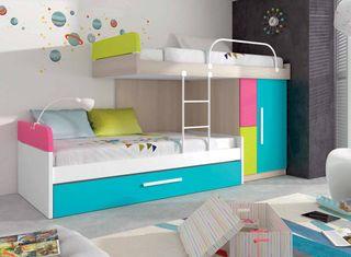 Habitación infantil 3 camas