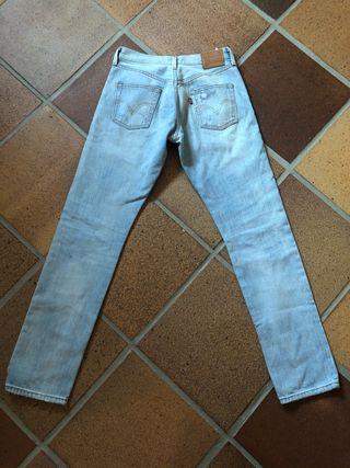 Pantalones vaqueros Levi's 501 t36 azul claro
