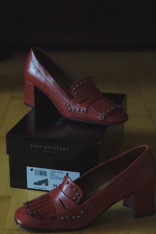 Zapatos pons quintana n39 color vino rojo