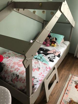 Cama casita infantil de 90