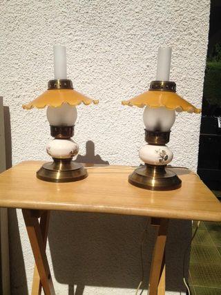 conjunto de lámparas estilo rústico