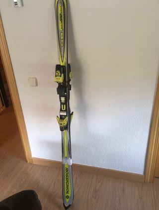Esquís Rossignol 167 fijaciones Salomon niño