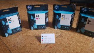 Cartuchos de tinta impresoras HP a estrenar