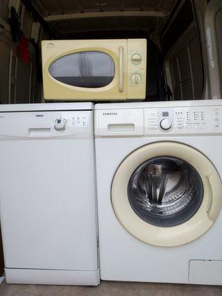 lavadora, lavavajillas, microondas