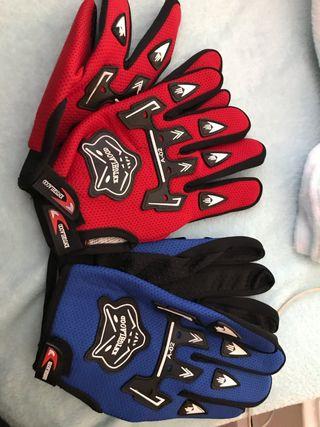 2 pares de guantes para moto