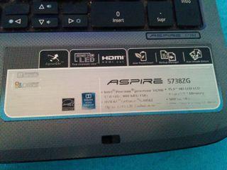 Ordenador portátil Acer Aspire 5738ZG