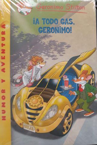 un libro infantil, sin abrir de su envoltorio.