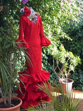 Traje de flamenca.