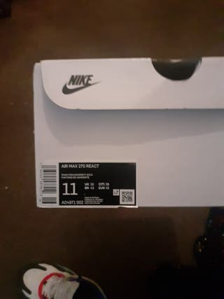 Nike AIR MAX 270 REACT UK Size 10