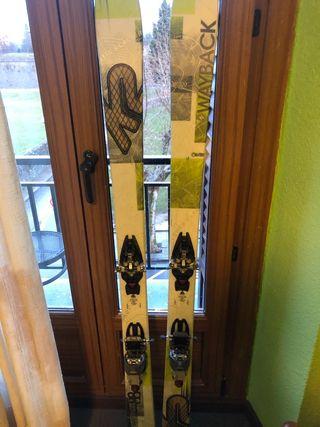 esquís de travesia K2, fijación dynafit