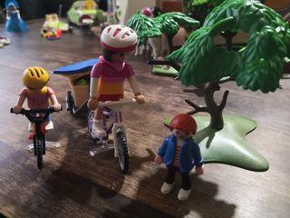 Campamento bicis playmobil