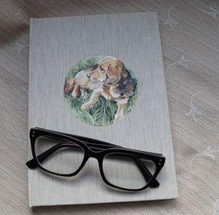 libro o diario personalizado en tela ilustrado