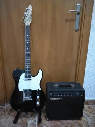 Guitarra elèctrica y amplificador