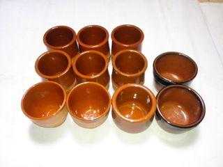 Vasos de barro (conjunto de 11)