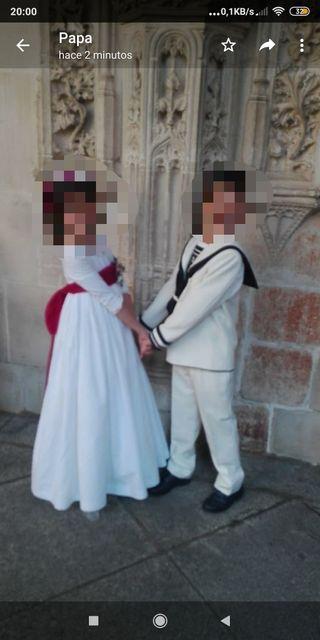 traje de comunión,niño,marinero