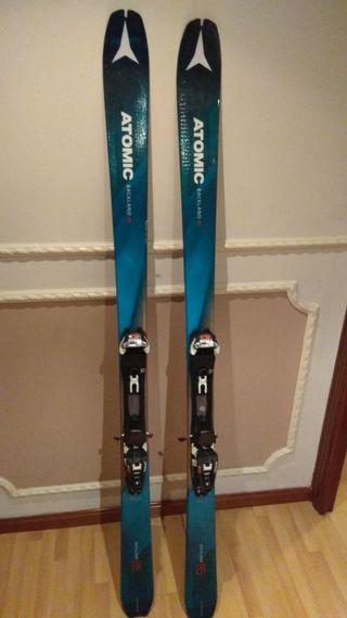 Esquís de montaña/travesía y alpino/pista