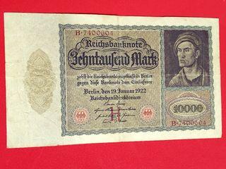 Antiguo billete 10.000 marcos Alemania 1922