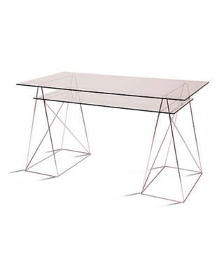 Caballetes para mesa, estructura cromada