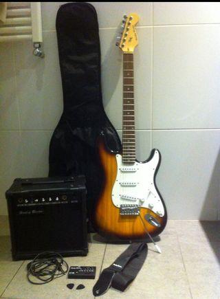 Pack Guitarra y Amplificador Harley benton 120€