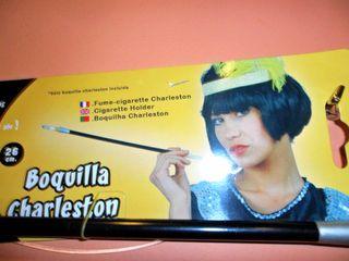 Boquilla cigarro. Disfraz años 20. Carnaval