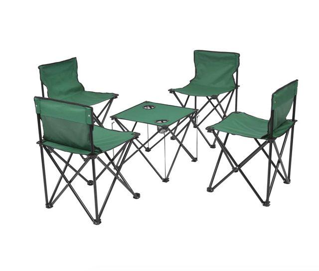 Muebles plegables de camping 5 piezas 45x45x70 cm
