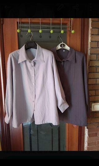 2 camisas Sra. talla 50