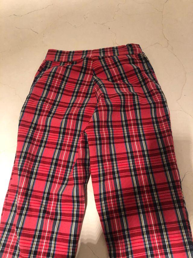 Leggings de cuadros escoceses rojos talla pequeña