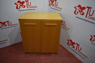 Botellero madera clara 82x55x86 cm