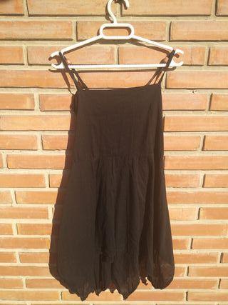 Vestido hippy negro S