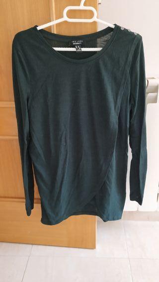 camiseta embarazada manga larga talla M