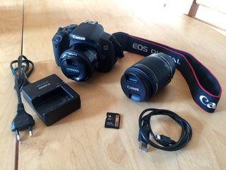 Canon 700D + 18-55 + 50mm 1.8 + SD 16 GB
