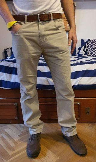 Pantalón chinos beige para hombre
