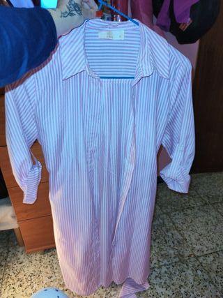 camisa baby de rayas rosa y blanca