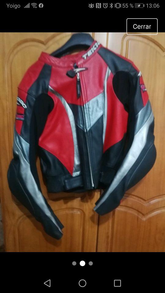 chaqueta de moto mujer